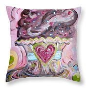 My Lil Cupcake - Chocolate Delight Throw Pillow by Eloise Schneider