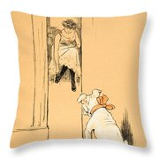 My Mistress Dressing Throw Pillow by Cecil Charles Windsor Aldin