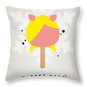 My Muppet Ice Pop - Miss Piggy Throw Pillow by Chungkong Art