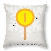 My Nintendo Ice Pop - Gold Coin Throw Pillow by Chungkong Art