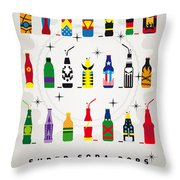 My Super Soda Pops No-00 Throw Pillow by Chungkong Art