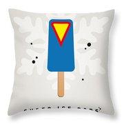 My Superhero Ice Pop - Superman Throw Pillow by Chungkong Art