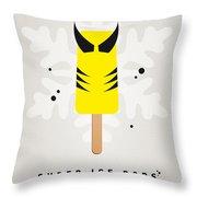 My Superhero Ice Pop - Wolverine Throw Pillow by Chungkong Art