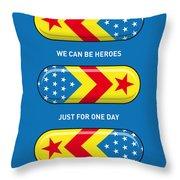 My SUPERHERO PILLS - Wonder woman Throw Pillow by Chungkong Art