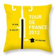 My Tour De France 2012 Minimal Poster Throw Pillow by Chungkong Art