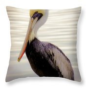 My Visitor Throw Pillow by Karen Wiles