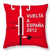 My Vuelta A Espana Minimal Poster Throw Pillow by Chungkong Art