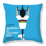 My World Championships Minimal Poster Throw Pillow by Chungkong Art