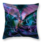 Mysteries Of The Universe Throw Pillow by Linda Sannuti