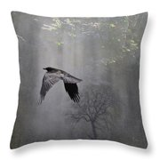 Mysterious Throw Pillow by Angie Vogel