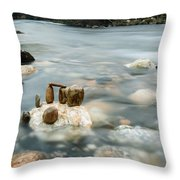 Mystic River II Throw Pillow by Marco Oliveira
