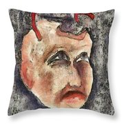 Nagging Doubts Throw Pillow by Michal Boubin