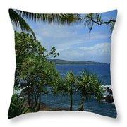 Nahiku Kaelua Honolulunui Bay Maui Hawaii Throw Pillow by Sharon Mau
