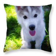 Nanook Of The North Throw Pillow by Bill Cannon
