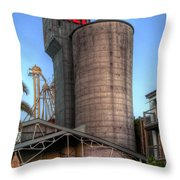 Napa Mill II Throw Pillow by Bill Gallagher