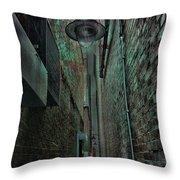Narrow Street Throw Pillow by Jasna Buncic
