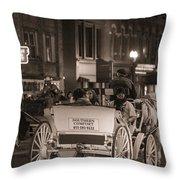 Nashville Carriage Ride Throw Pillow by John McGraw