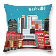 Nashville Throw Pillow by Karen Young
