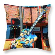 Nashville Legends Guitar Throw Pillow by Dan Sproul