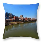 Nashville Skyline  Throw Pillow by Dan Sproul