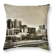 Nashville Tennessee Throw Pillow by Dan Sproul