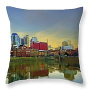 Nashville Tennessee Throw Pillow by Steven  Michael