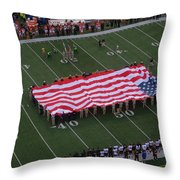 National Anthem Throw Pillow by Dan Sproul