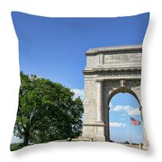 National Memorial Arch At Valley Forge Throw Pillow by Olivier Le Queinec