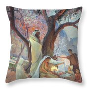 Nativity Throw Pillow by Frederic Montenard