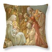 Nativity Throw Pillow by John Lawson