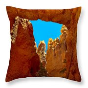 Natural Bridge Bryce Throw Pillow by Robert Bales
