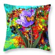 Nature Vs Caos Throw Pillow by Gary Grayson