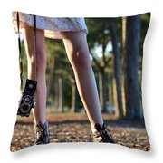 Nature Walk Throw Pillow by Laura Fasulo