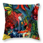Natures Overature Throw Pillow by Genevieve Esson