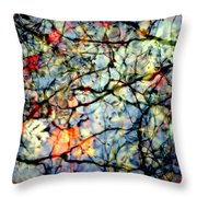 NATURES STAINED GLASS Throw Pillow by KAREN WILES