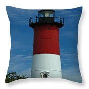 Nauset Beach Lighthouse Throw Pillow by Juergen Roth