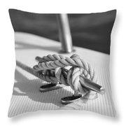 Nautical Throw Pillow by Laura Fasulo