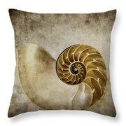 Nautilus Shell Throw Pillow by Carol Leigh