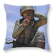 Navajo Code Talkers - Navajo People Throw Pillow by Christine Till
