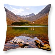 Navajo Lake Throw Pillow by Aaron Spong