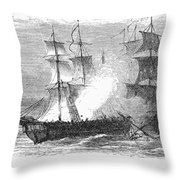 Naval Battle, 1779 Throw Pillow by Granger