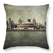 Navy Pier Throw Pillow by Andrew Paranavitana