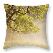 Nebulous Tree Throw Pillow by Heiko Koehrer-Wagner