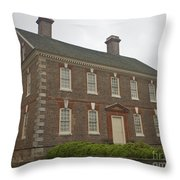Nelson House Yorktown Throw Pillow by Teresa Mucha