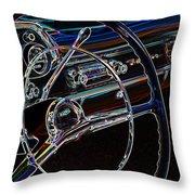 Neon 1957 Chevy Dash Throw Pillow by Steve McKinzie