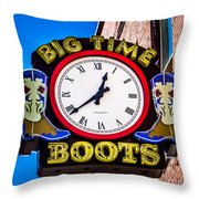 Neon Boots Throw Pillow by Perry Webster