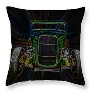 Neon Deuce Coupe Throw Pillow by Steve McKinzie