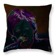 Neon Sir Paul Throw Pillow by Tina M Wenger