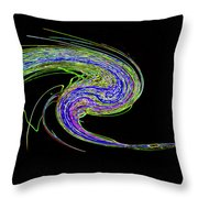 Neon Twirl Throw Pillow by Skip Willits