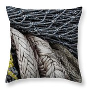 Nets And Knots Number Two Throw Pillow by Elena Nosyreva